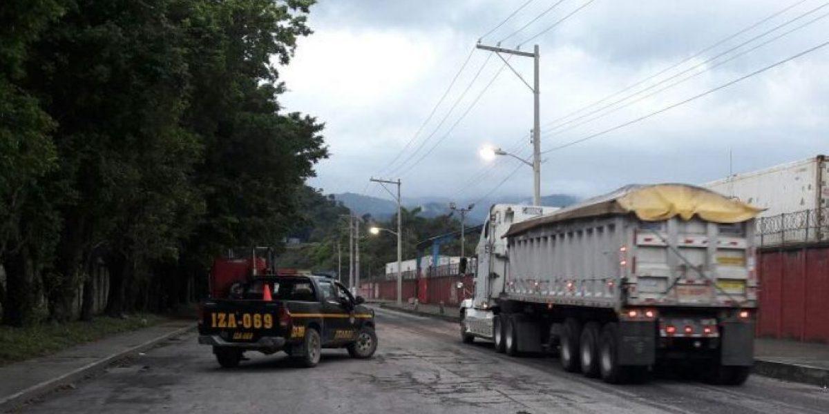 En medio del paro de pilotos, PNC continúa con escolta del transporte pesado desde puertos y fronteras