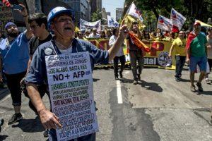 Protestas en Santiago de Chile el 4 de noviembre de 2016 Foto:Martin Bernetti/afp.com