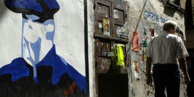 Una pintada en la localidad guipuzcoana de Hernani que honra a un miembro de ETA muerto cuando preparaba un atentado, fotografiada el 18 de agosto de 2006 Foto:Ander Arrizurieta/afp.com