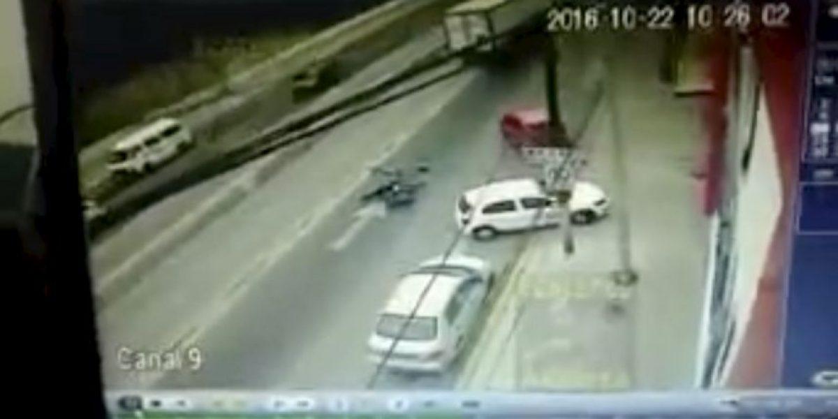 Video muestra la muerte de un niño de 8 años tras caer de motocicleta