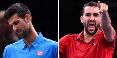Djokovic cae ante Cilic en cuartos del Masters 1000 de París-Bercy