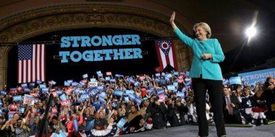 La candidata demócrata Hillary Clinton durante un acto de campaña el 6 de noviembre de 2016 en Cleveland Foto:Justin Sullivan/afp.com