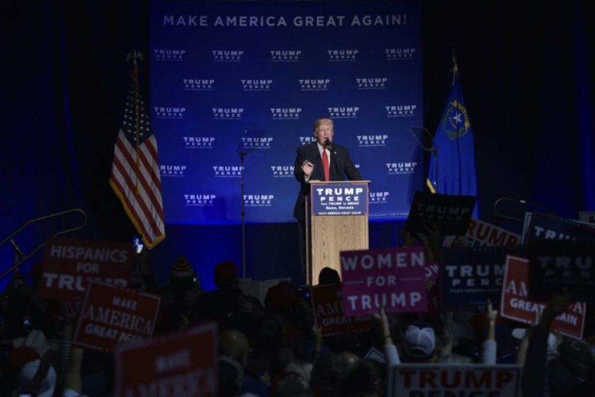 El candidato republicano Donald Trump durante un acto de campaña en el centro de convenciones de Reno el 5 de noviembre de 2016 Foto:Mandel Ngan/afp.com