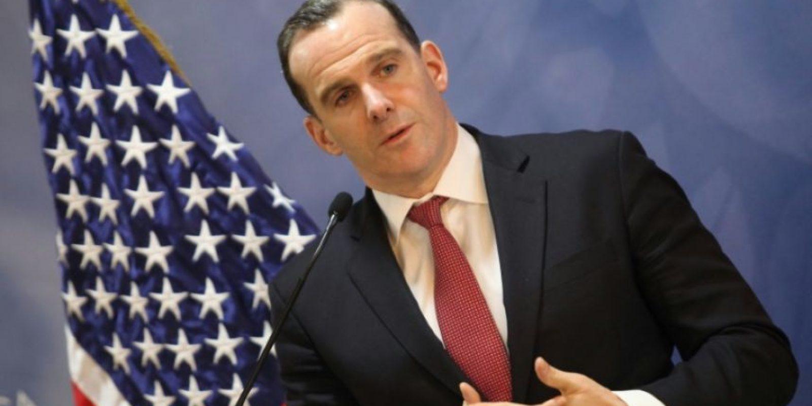 El enviado estadounidense de la coalición internacional contra el grupo Estado Islámico durante una conferencia de prensa en Ammán, el 6 de noviembre de 2016. Foto:AHMAD ABDO/afp.com