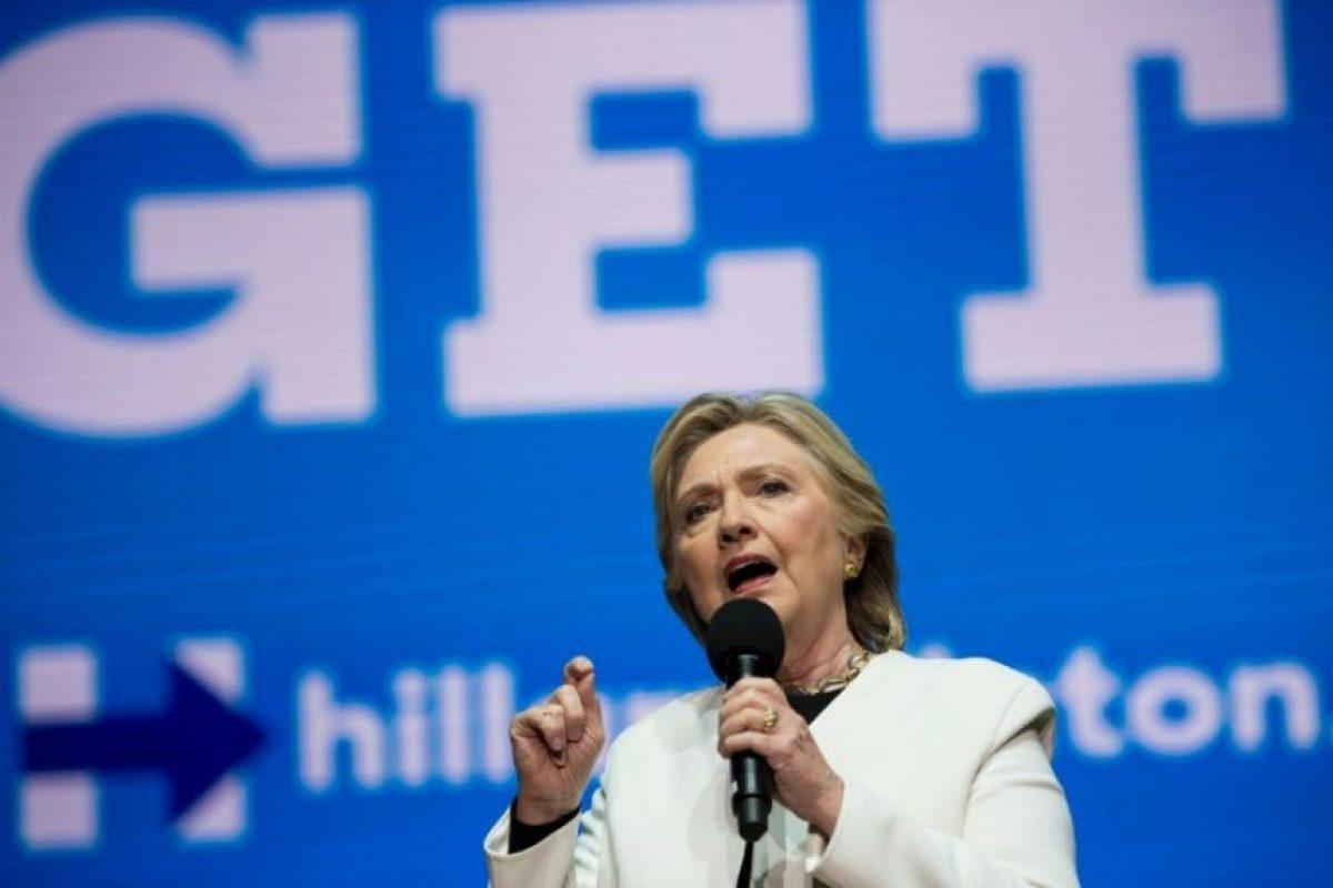 La candidata demócrata Hillary Clinton durante un concierto en apoyo a su campaña el 5 de noviembre de 2016 en Filadelfia Foto:Brendan Smialowski/afp.com