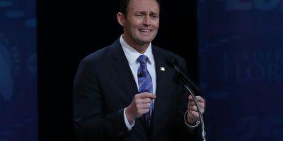 El legislador Patrick Murphy, durante el debate contra Marco Rubio, celebrado el 26 de octubre en el Broward College de Florida Foto:Joe Raedle/afp.com