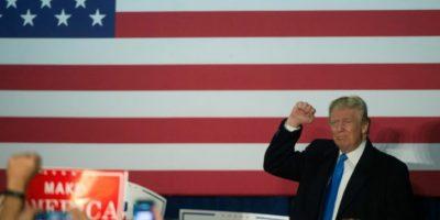 El candidato republicano Donald Trump durante un acto de campaña en Leesburg el 7 de noviembre de 2016 Foto:MOLLY RILEY/afp.com
