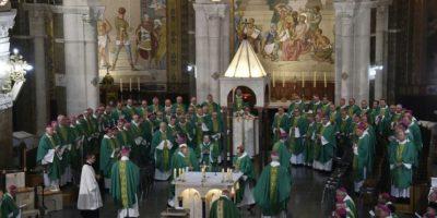 Obispos católicos reunidos en Lourdes, suroeste de Francia, el 7 de noviembre de 2016 Foto:Pascal Pavani/afp.com