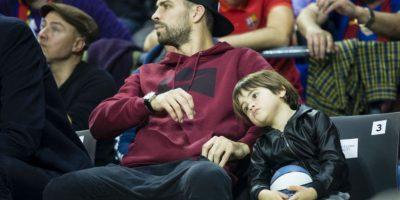 Milan reapareció junto a su padre, Gerard Piqué. Foto:Grosby Group