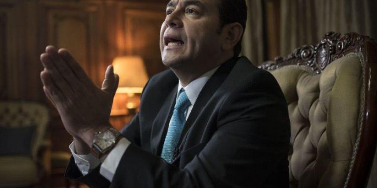 Presidente Jimmy Morales le pide al Congreso que apruebe propuesta de Presupuesto 2017