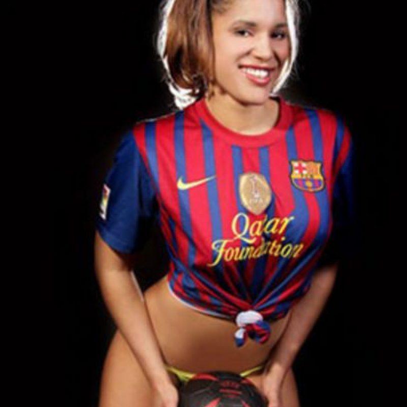 Instagram Foto:Janeira Ventura. Ofreció un fin de semana de sexo sin parar a un aficionado del Barcelona, su los culés ganaban la Liga en 2013