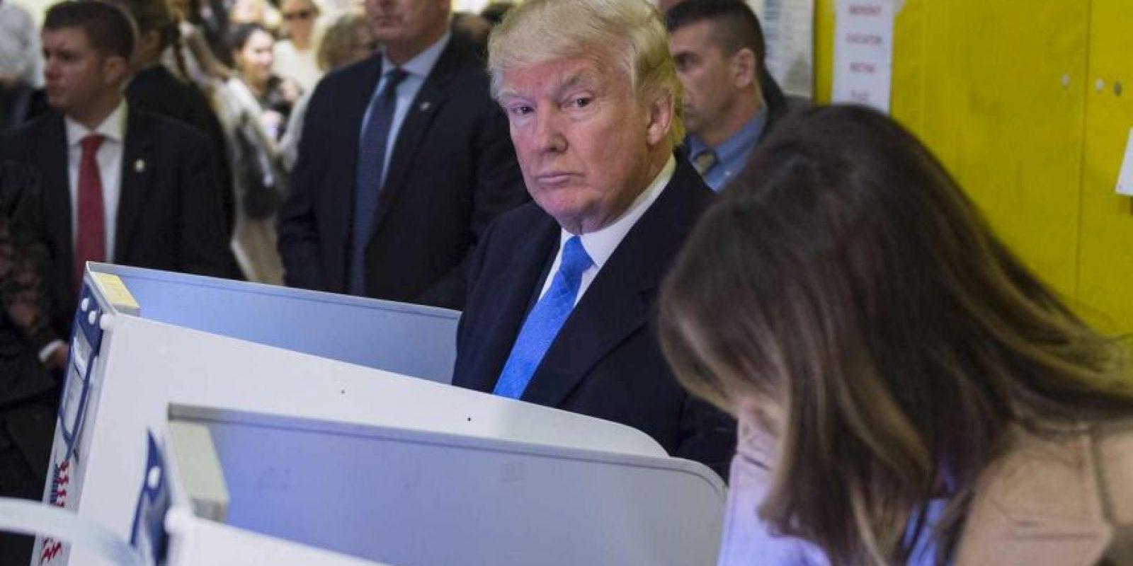 AFP Foto:El momento en que Donald Trump emitió su voto