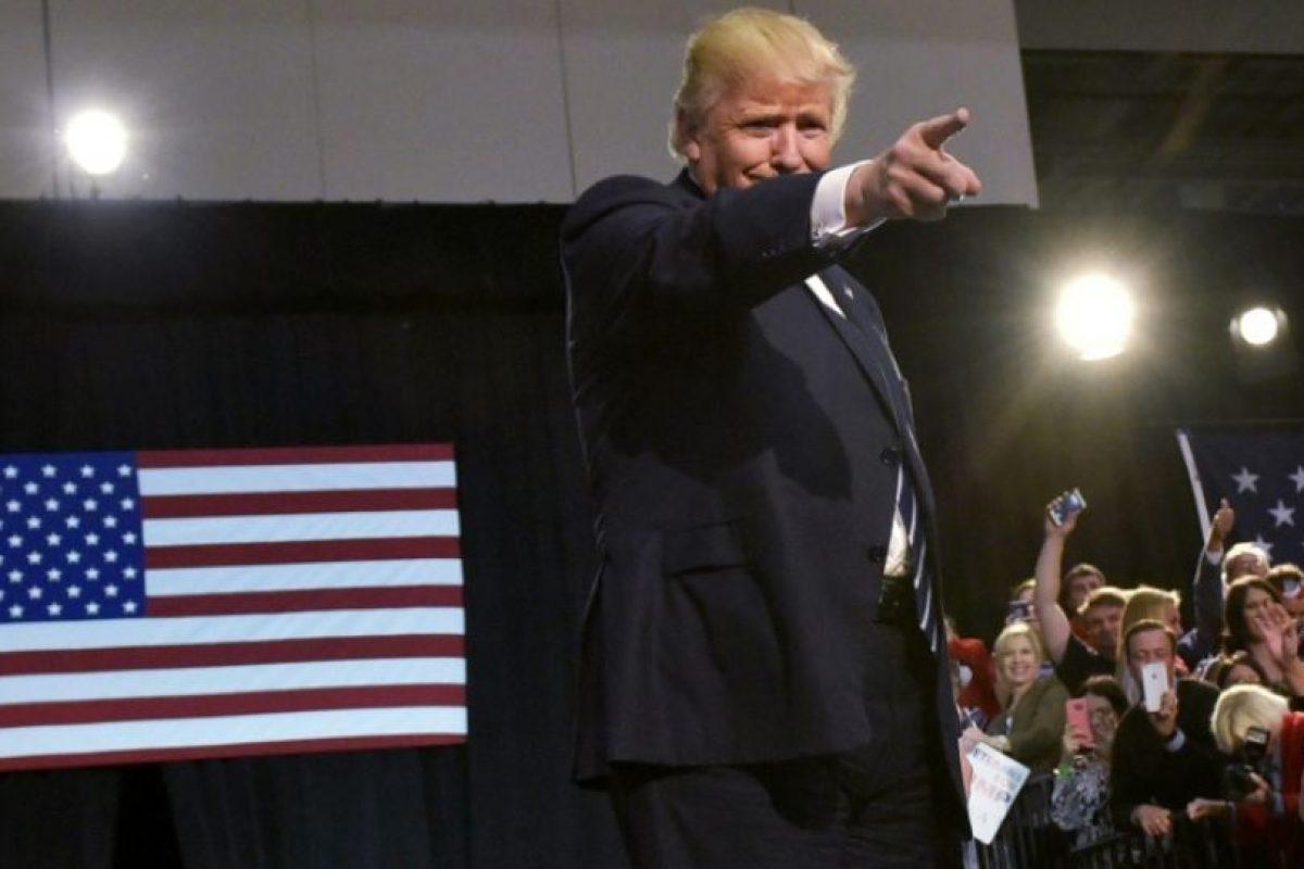 El candidato republicano a la presidencia de EEUU, Donald Trump, en su último mitin de campaña, el 7 de noviembre de 2016 en Grand Rapids, Michigan Foto:Mandel Ngan/afp.com