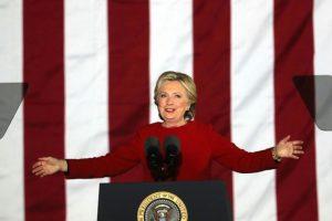 La candidata demócrata Hillary Clinton durante un acto de campaña en Filadelfia el 7 de noviembre de 2016 Foto:Spencer Platt/afp.com