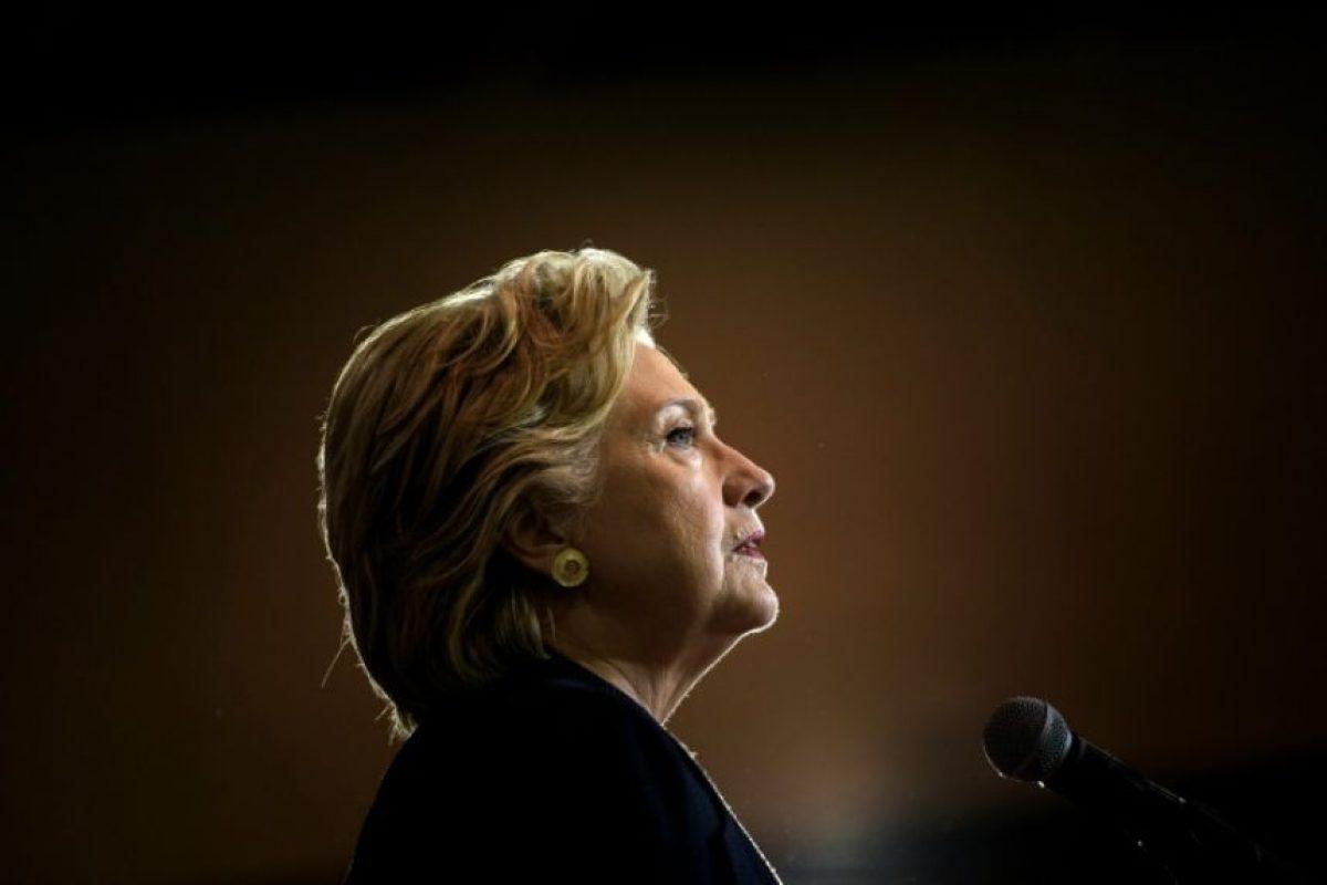 La candidata presidencial demócrata, Hillary Clinton, hace campaña el 27 de septiembre de 2016 en Raleigh, Carolina del Norte (EEUU) Foto:Brendan Smialowski/afp.com