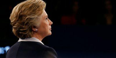 La candidata demócrata Hillary Clinton participa en el segundo debate presidencial, el 9 de octubre de 2016 en la Universidad Washington University de St. Louis, Misuri (EEUU) Foto:Jim Bourg/afp.com