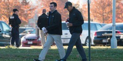El presidente Barack Obama decidió jugar básquetbol durante el día de elecciones. Foto:AFP