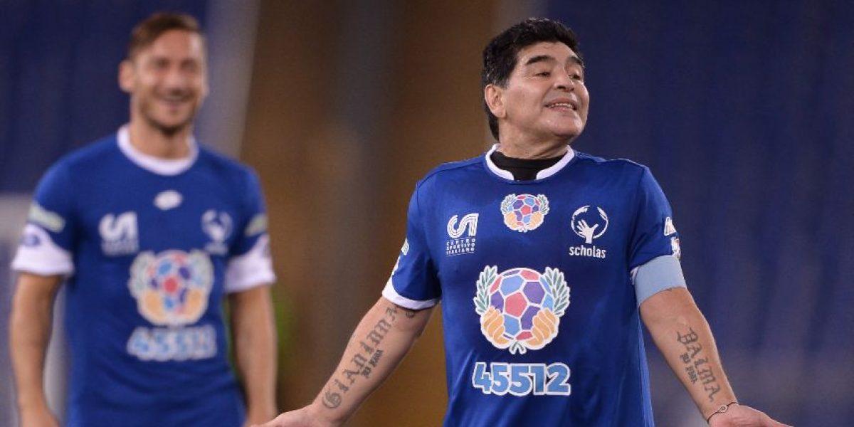 Maradona explota contra sus críticos tras su reciente visita a Marruecos