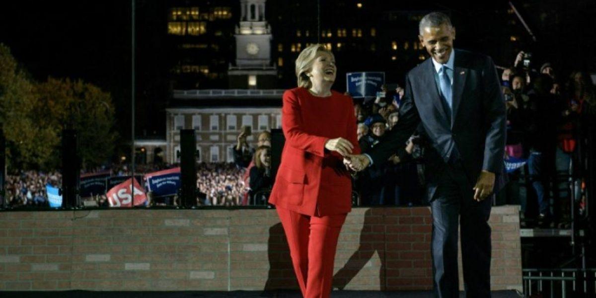Clinton muestra fuerza a horas de elección presidencial, en acto con Obama