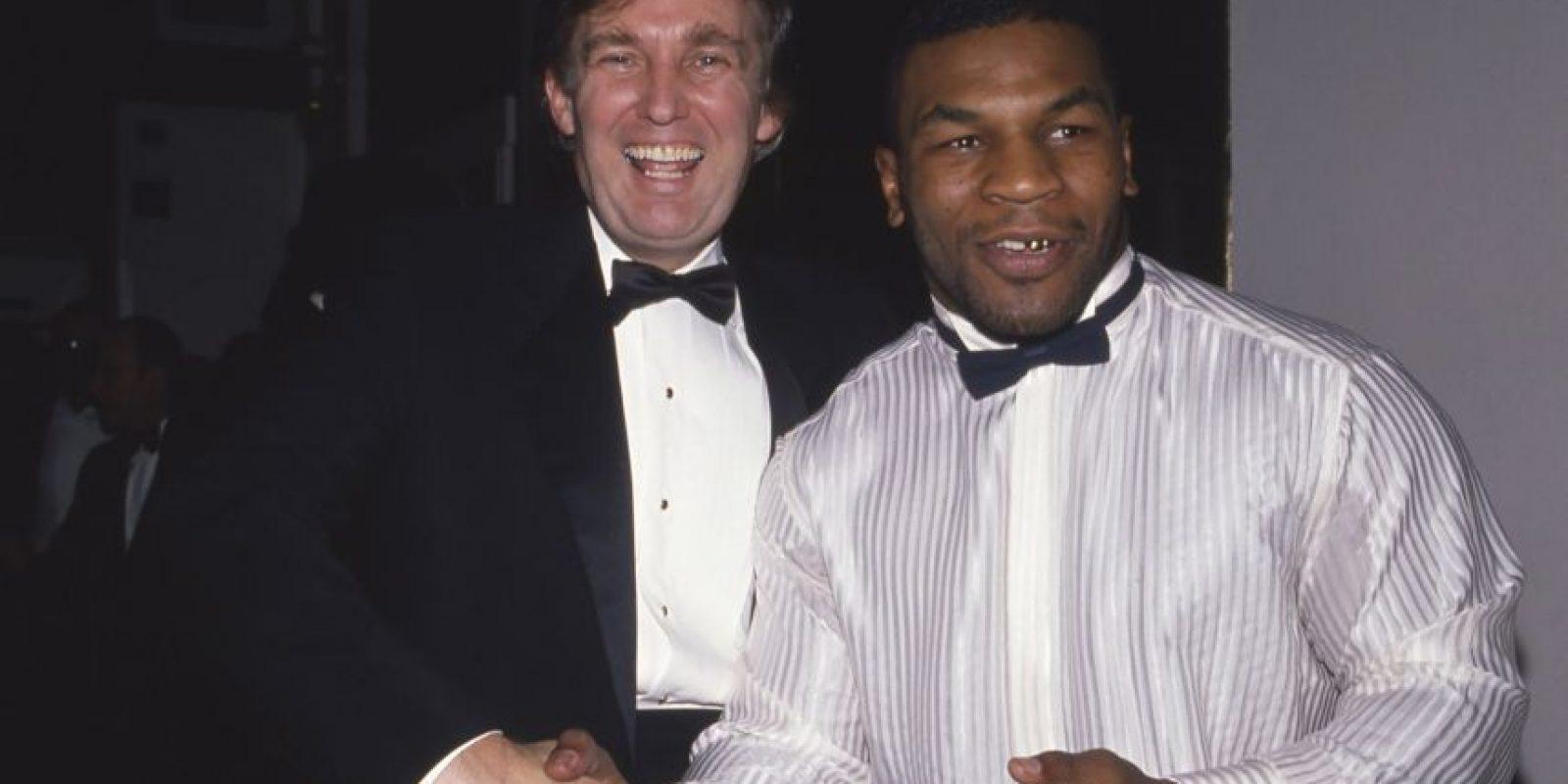Varias son las figuras del deporte que han hecho pública su preferencia por uno de los candidatos. Mike Tyson está del lado de Donald Trump. Foto:AFP