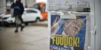 La portada de un diario mexicano, el 9 de noviembre de 2016 en Ciudad de México Foto:Yuri Cortez/afp.com