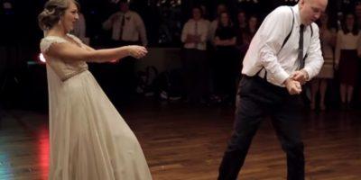 VIDEO. Padre e hija causan sensación con su espectacular baile durante la boda de ella