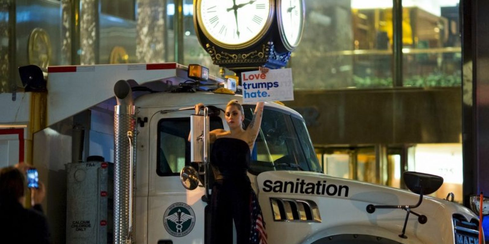 AFP Foto:Se manifestó contra Donald Trump
