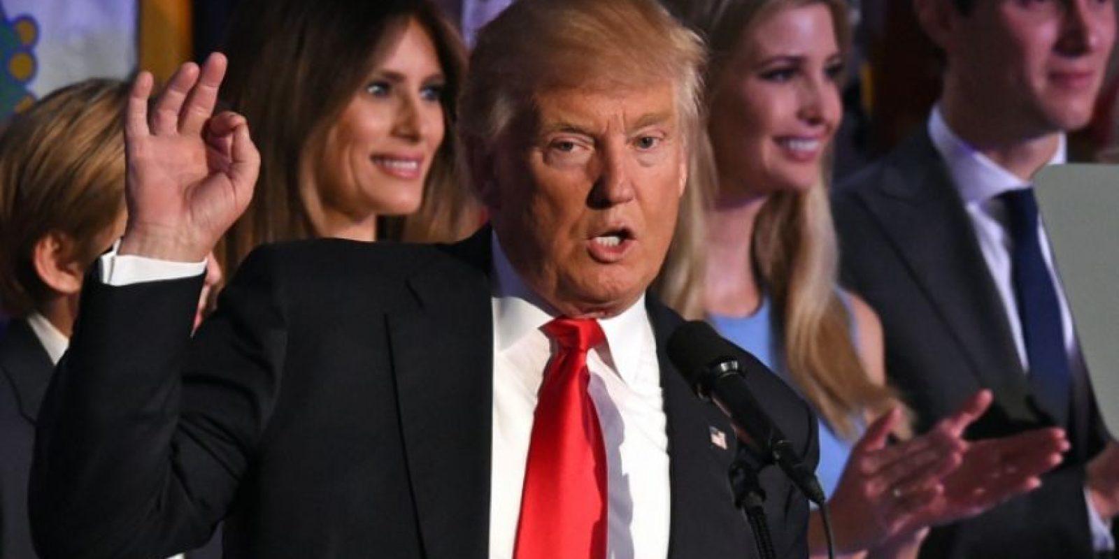 El electo presidente de EEUU Donald Trump durante un discurso el 9 de noviembre de 2016 en Nueva York Foto:Timothy A. Clary /afp.com