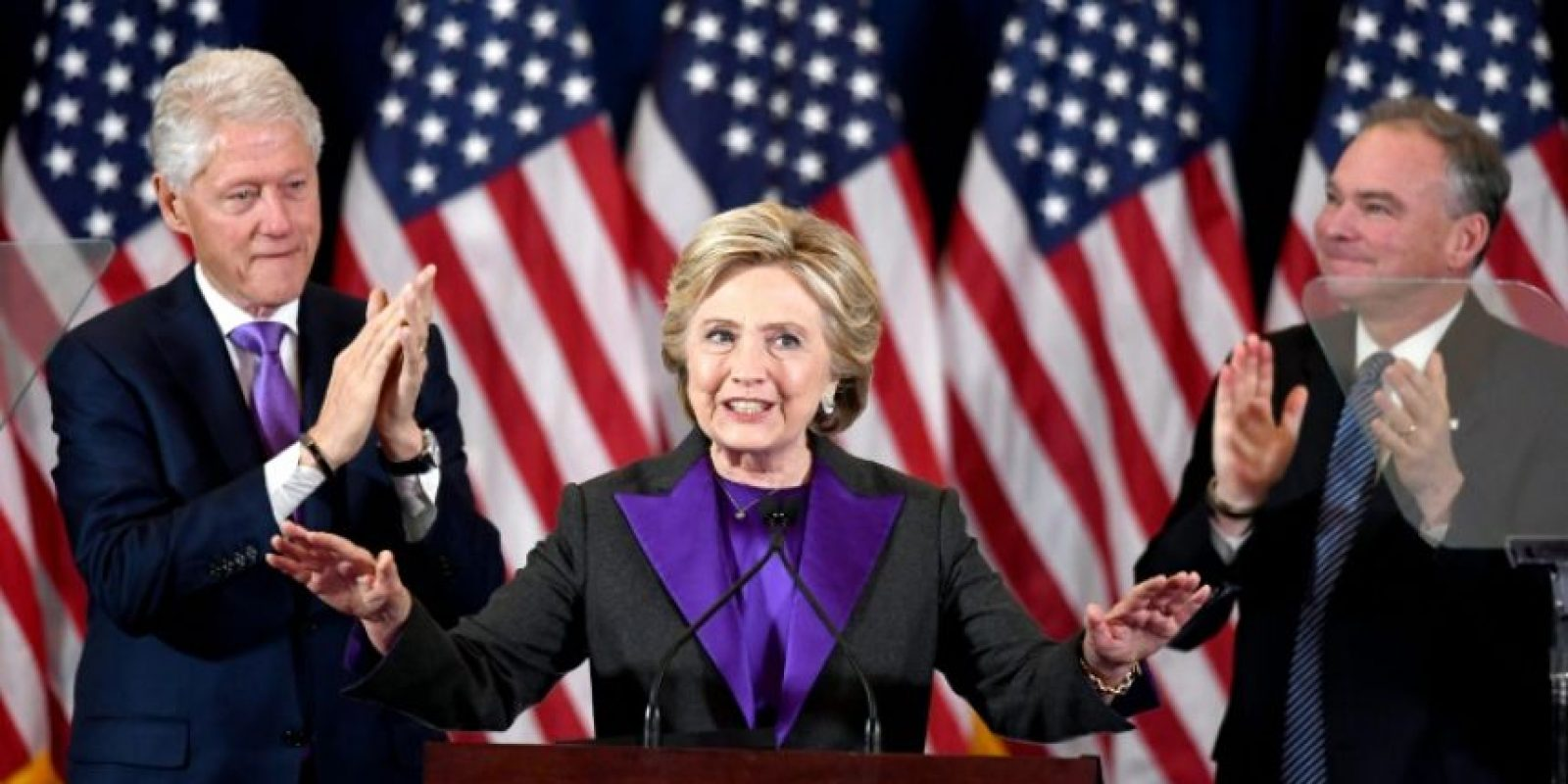 Hillary Clinton, el 9 de noviembre de 2016 en Nueva York Foto:Jewel Samad/afp.com