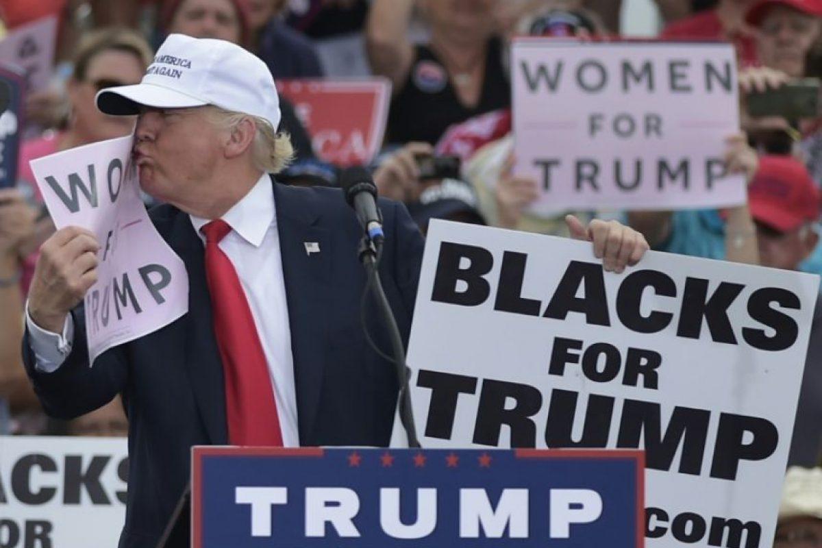 Donald Trump durante un acto de campaña el 12 de octubre de 2016 en Lakeland, Estados Unidos Foto:Mandel Ngan/afp.com