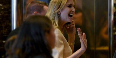 Ivanka Trump, hija del presidente electo de Estados Unidos, Donald Trump, en la torre que lleva su apellido en la Quinta Avenida de Nueva York, el 11 de noviembre de 2016 Foto:Timothy A. Clary/afp.com