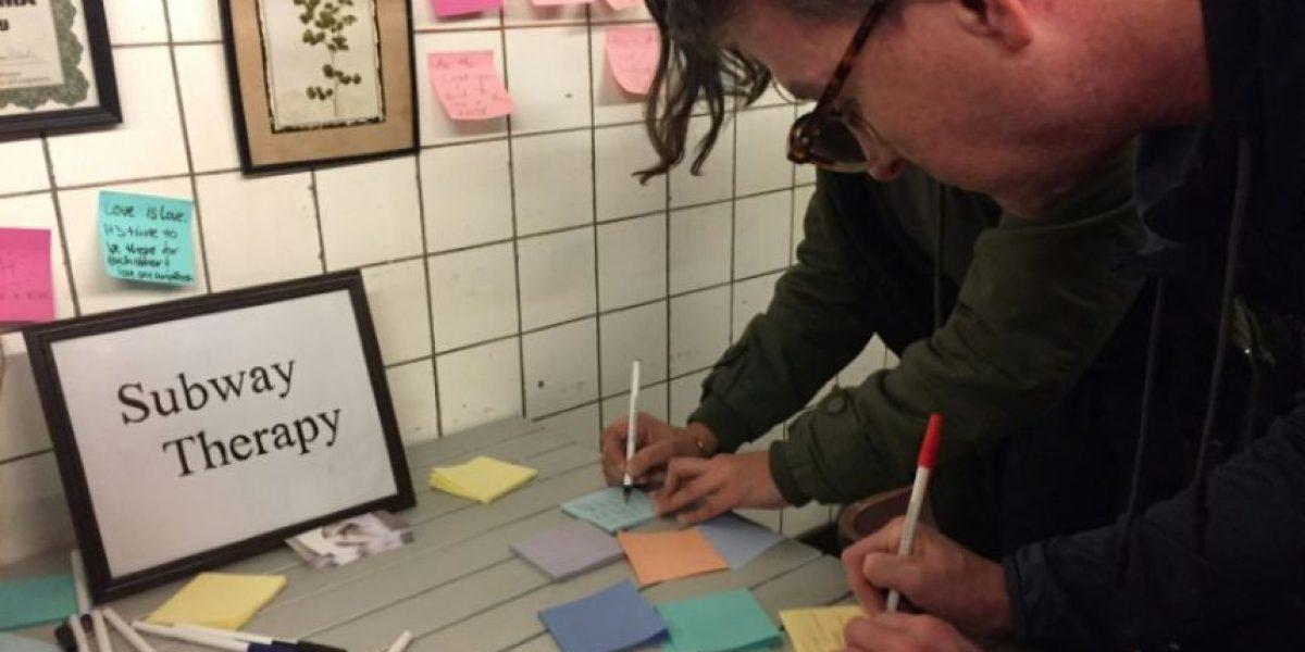 Terapia colectiva en el metro de Nueva York para digerir la elección de Trump
