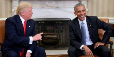El presidente estadounidense, Barack Obama, con su sucesor electo, Donald Trump, en el Salón Oval de la Casa Blanca, el 10 de noviembre de 2016 en Washington Foto:Jim Watson/afp.com