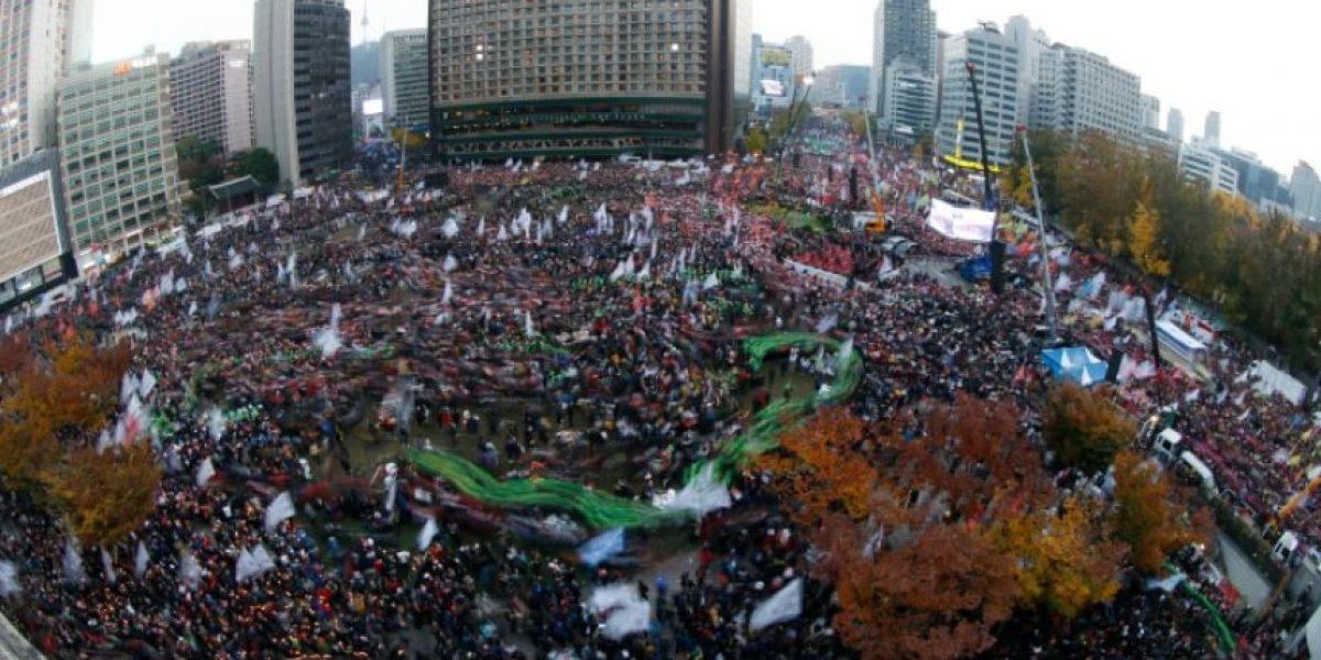 Decenas de miles de personas exigen la dimisión de la presidenta de Corea del Sur