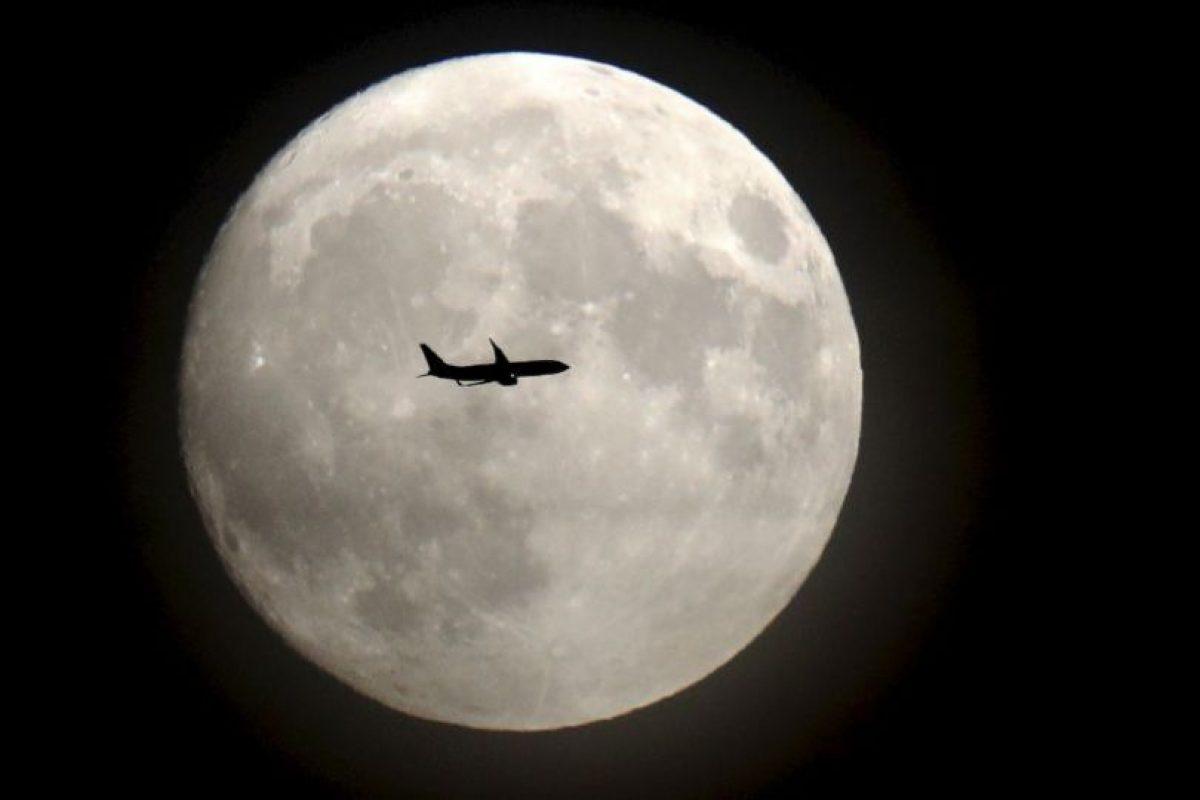 Así se vio la Superluna desde Londres, Inglaterra Foto:AFP