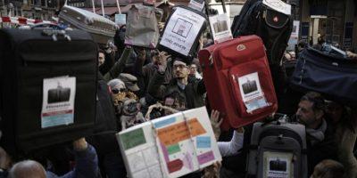 """""""Venexodus"""", la singular manifestación de los venecianos contra invasión turística"""