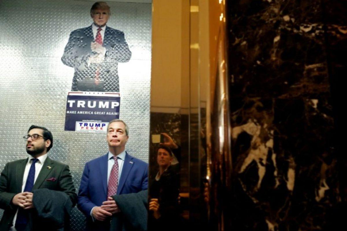 El líder del Ukip y voz de los euroescépticos británicos Nigel Farage, el 12 de noviembre de 2016 a su llegada a la Torre Trump en la Quinta Avenida de Nueva York Foto:Yana Paskova/afp.com