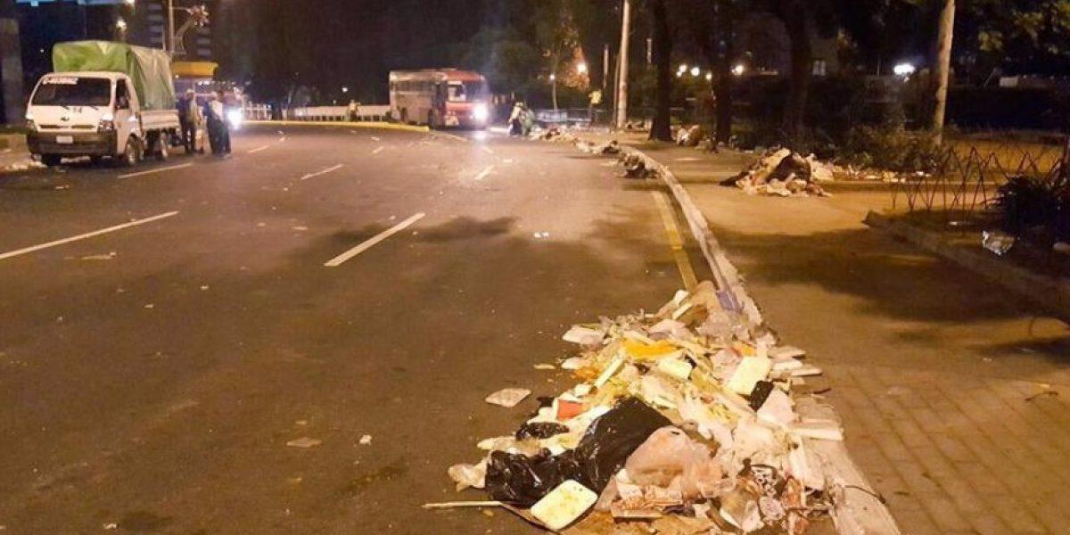 Municipalidad recogió 110 metros cúbicos de basura luego de actividad navideña en plaza Obelisco