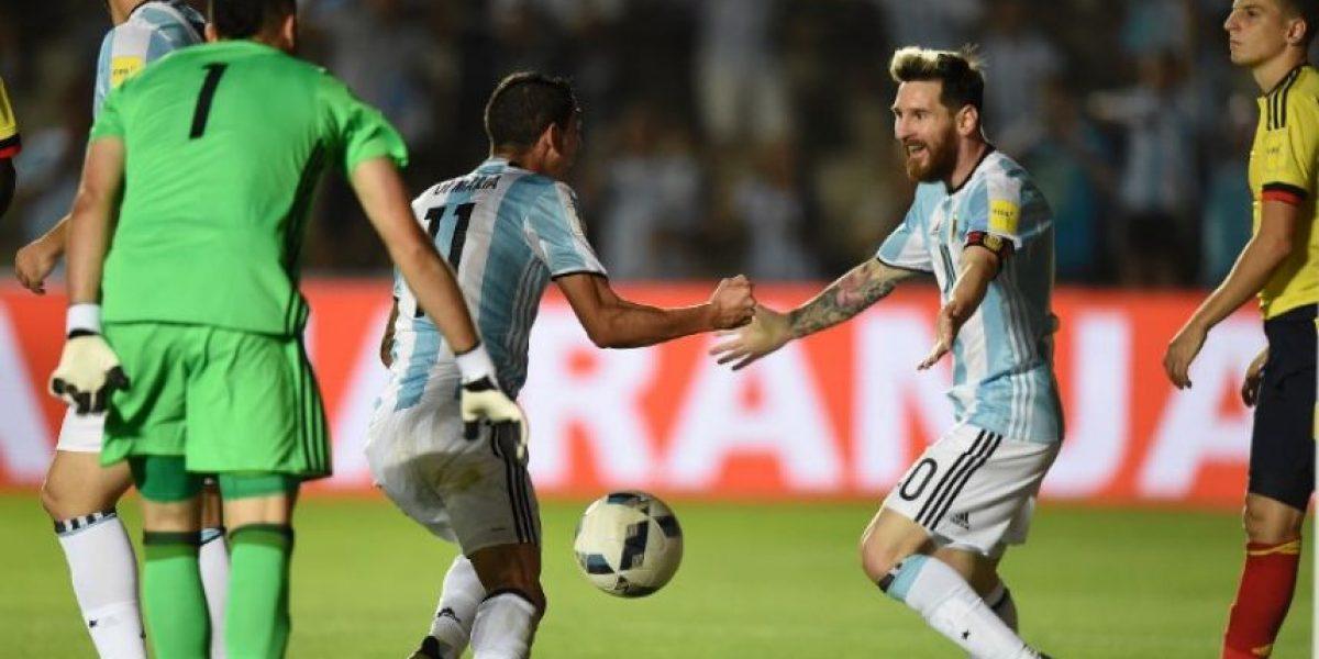 Argentina respira con gran actuación de Messi ante Colombia