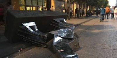Las obras de arte fueron dañadas. Foto:Publinews