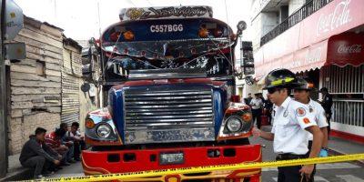 Desconocido dispara y deja herido al chofer de un autobús que se dirigía a la ciudad de Guatemala