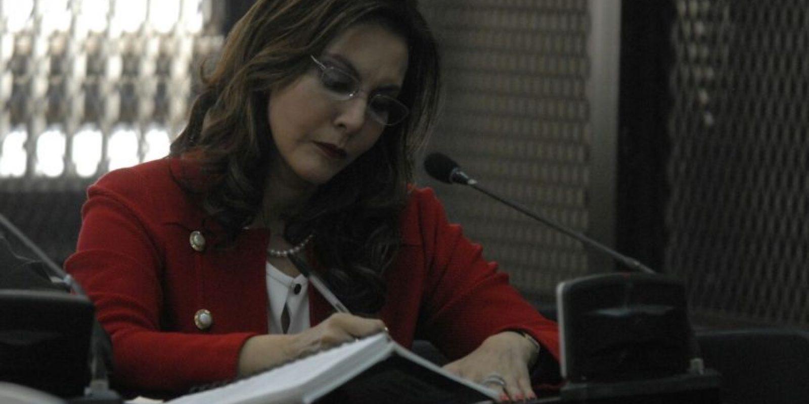 Zury Ríos Sosa acudió al juzgado. Foto:Cortesía