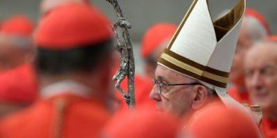 El papa Francisco a su llegada al consistorio para el nombramiento de 17 nuevos cardenales, el 19 de noviembre de 2016 en la Basílica de San Pedro del Vaticano Foto:Tiziana Fabi/afp.com