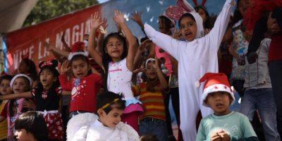 Niños participan en la grabación del anuncio más dulce del año