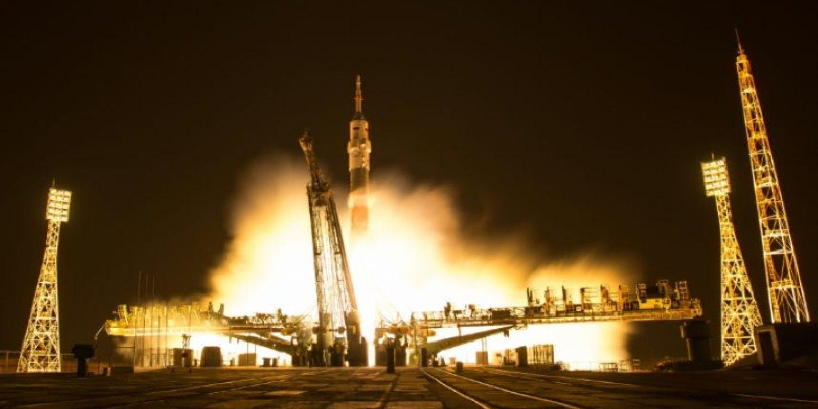 La nave rusa Soyuz despega del cosmódromo de Baikonur el 18 de noviembre de 2016 Foto:NASA/Bill Ingalls/afp.com