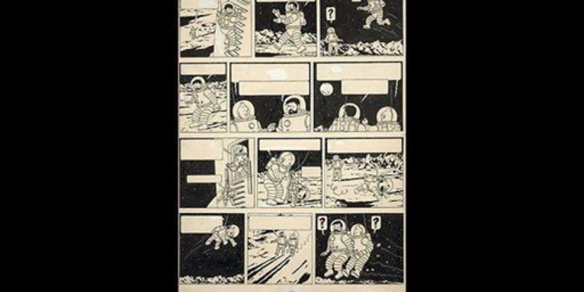 Subasta de dibujo raro de Tintin alcanzó monto récord en París