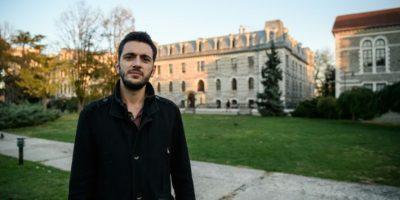 Mert Nacakgedigi, presidente del Comité de Estudiantes de la Universidad del Bósforo, el pasado 17 de noviembre en el campus de la institución, en Estambul Foto:Ozan Kose/afp.com