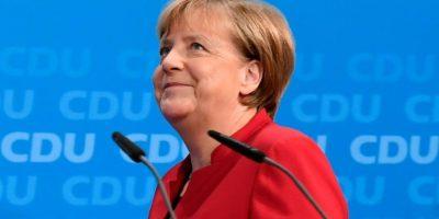 La canciller alemana Angela Merkel antes de dar una conferencia de prensa en la sede de su partido el 20 de noviembre de 2016 en Berlín Foto:Tobias Schwarz/afp.com