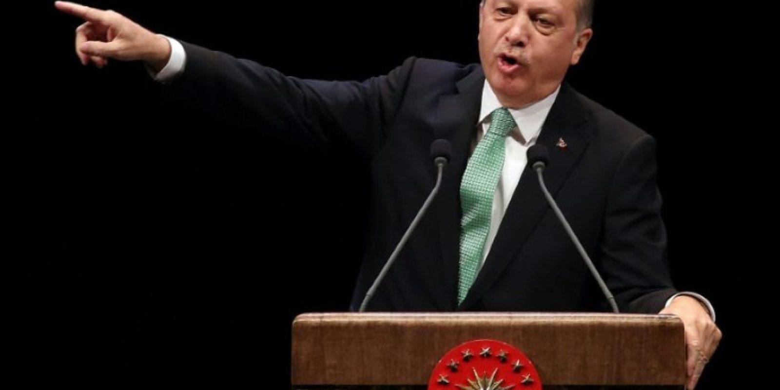 Recep Tayyip Erdogan da un discurso durante una entrega de premios el pasado 3 de noviembre en Ankara Foto:Adem Altan/afp.com