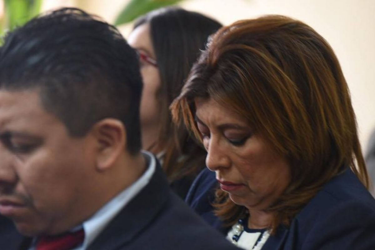Anabella de León en audiencia de este lunes. Foto:Wendy Morataya